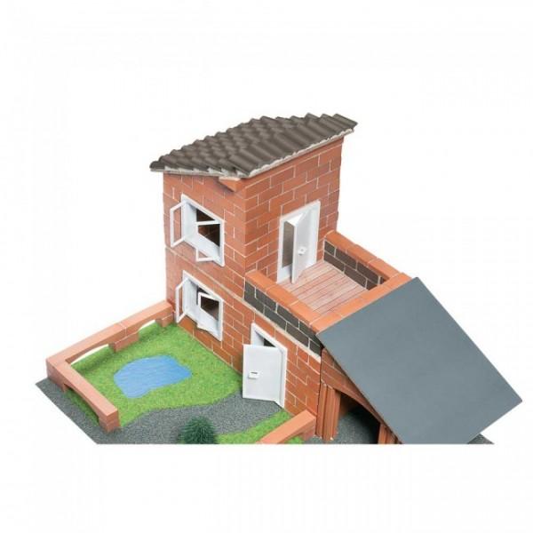 jeux de construction en briques villa avec garage teifoc
