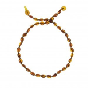 COLLIER D'AMBRE PIERRES OVALES COGNAC Baltic way