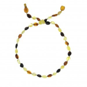 COLLIER D'AMBRE PIERRES OVALES MIX Baltic way