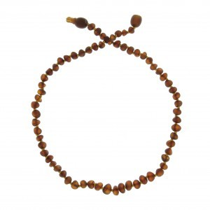 COLLIER D'AMBRE COGNAC NON POLI Baltic way