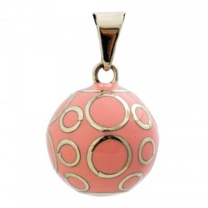 BOLA ROSE CERCLES ARGENTE Babylonia