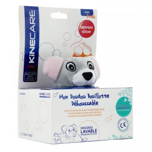 BOUILLOTTE SECHE DOUDOU HOUSSE SOURIS Kinekare by Visiomed