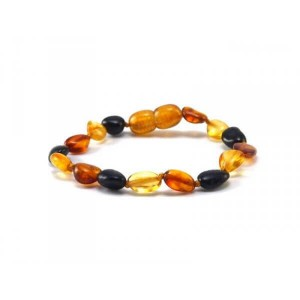 BRACELET D'AMBRE OLIVE MIX Baltic way