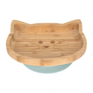 ASSIETTE EN BOIS DE BAMBOU LITTLE CHUMS CHAT Lassig