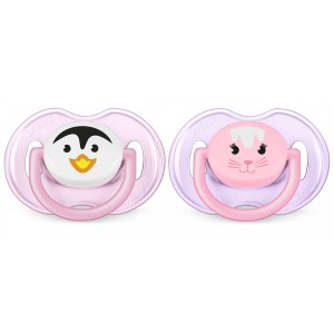 SUCETTES ANIMAL FILLE ROSE 0/6MOIS Avent