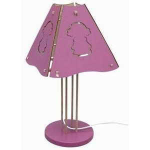 LAMPE FILLE ROSE Diabolo kid