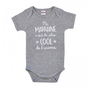BODY MC MARRAINE GRIS 3 MOIS Bb and co