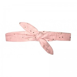 BANDEAU ROSE BLUSH POIS OR