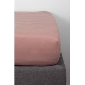 DRAP HOUSSE COTON BIO ROSE POUDRE 60 X 120 Kadolis
