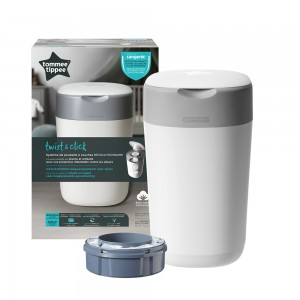 POUBELLE A COUCHES TWIST AND CLICK BLANC Tommee tippee