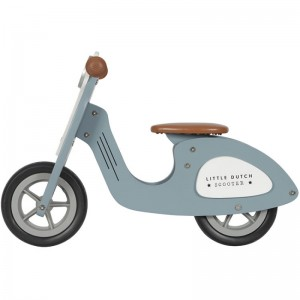 DRAISIENNE SCOOTER EN BOIS BLUE Little Dutch