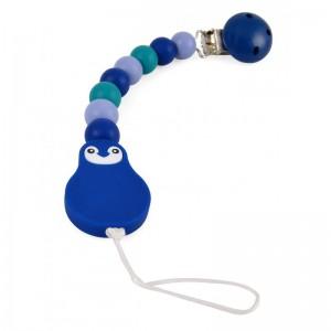 ATTACHE SUCETTE SILICONE BLEU / EMERAUDE Magni toys